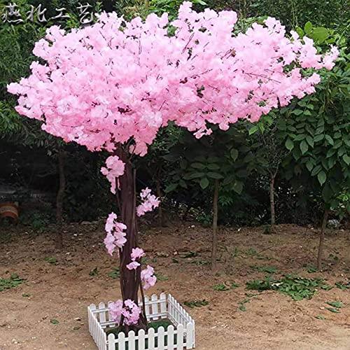 JXINGY Flor Artificial Flor de Cerezo Árbol de Seda Flores de Sakura Flores Falsas Vides para la Ceremonia del Banquete de Boda Decoración del hogar