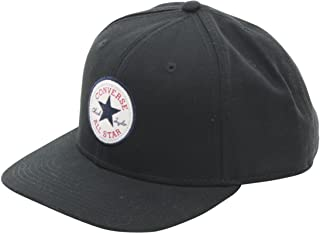 7ddfbe6c8abda Converse Men's Core Snap Back Black Cotton Cap Baseball Hat (One Size Fits  ...