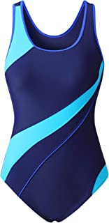 EBMORE Womens One Piece Swimsuit Bathing Suit for Athletic Sport Training Exercise