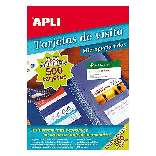 Tarjetas De Visita Inkjet/laser/fotocopiadora Microperforadas 90 X 50.8mm 200gr Mate 50 Hojas