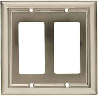 Architectural 2 Decorator Wall Plate - Satin Nickel