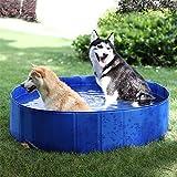 PAWZ Road Dog Swimming Pool Foldable Dog Pet Bath Pool Collapsible Dog Pet Bathing Tub -Size Large 48 Inches
