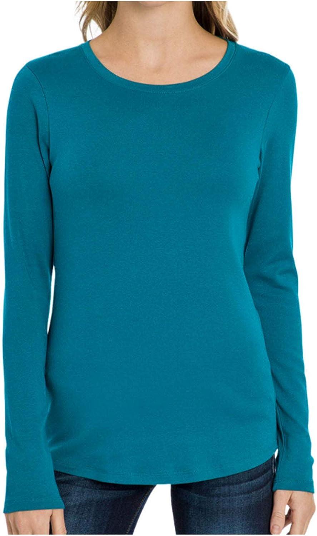 Eddie Bargain sale Bauer Ladies Long Scoop Neck Sleeve Over item handling T-Shirt