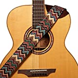 Amumu Chevron Jacquard Guitar Strap Multi-Color Cotton for...