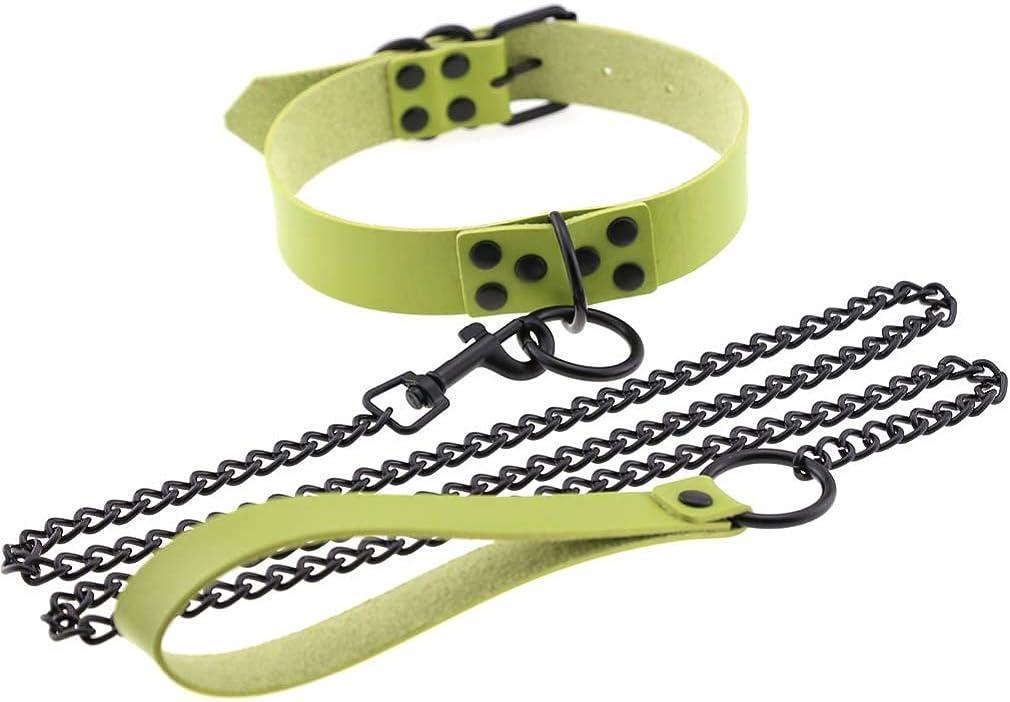Girls' Punk O-Ring Traction Belt Neck Sleeve