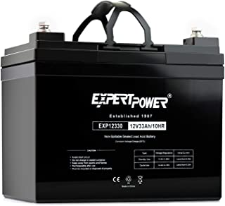 ExpertPower 12v 33ah Rechargeable Deep Cycle Battery [EXP12330] Replaces 34Ah, 35Ah, 36Ah