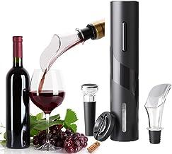 Tire bouchon electrique 4 en 1, ouvre bouteille Électrique Automatique De Tire-bouchon De Bouteille De Vin Avec Coupe-feui...