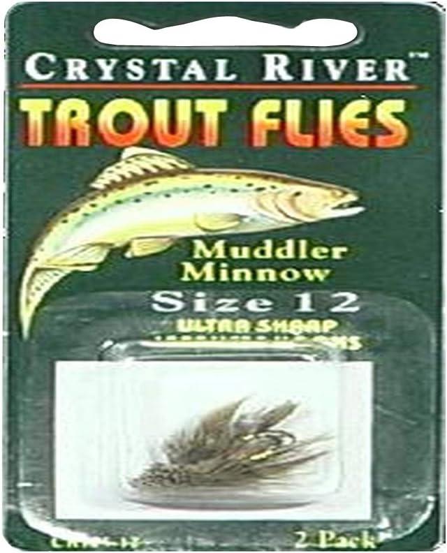 Crystal Max 87% OFF River CR105-12 discount Minnow Flys-Muddler Sz-12