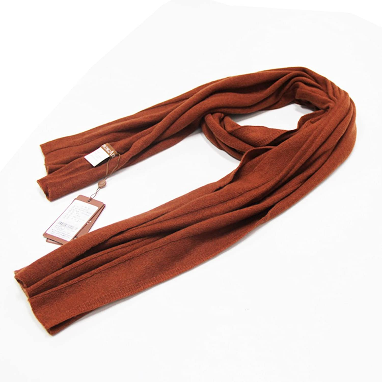 SpringAir 100% Cashmere Winter Warm Knitted Scarf Wrap Shawl in Assorted color