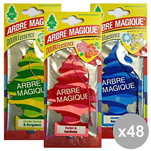 Set 48 ARBRE MAGIQUE Deodorante DOUBLE ESSENCE CASSA MISTA Accessori auto e moto