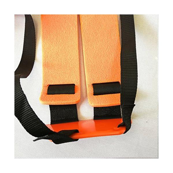 Cancanle Correa de Hombro Doble Profesional de Seguridad Naranja para Cortar brochas y cinturón de Seguridad