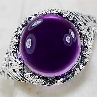 Wenbin Huge 2.3ct Amethyst 925 Silver Wedding Vintage Prom Man Women Square Cut Gemstone Ring Wedding Ring Female Jewelry ...