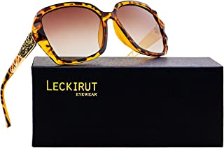 7735a2c395f Leckirut Women Shades Classic Oversized Polarized Sunglasses 100% UV  Protection Eyewear