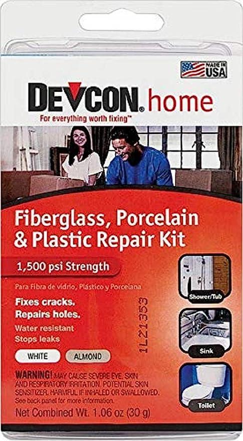 Amazon Com Devcon Epoxy Bathtub Repair Kit Almond White Home Improvement