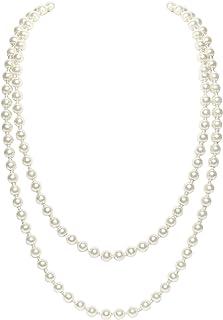 BABEYOND Perla de Imitación Flapper Collar Largo de Perla Artificial Vintage 55