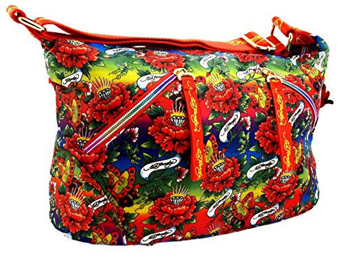 Ed Hardy 1ANY033EME-Orange Handtasche, Damentasche, Henkeltasche, Handbag - Mehrfarbig 26 cm