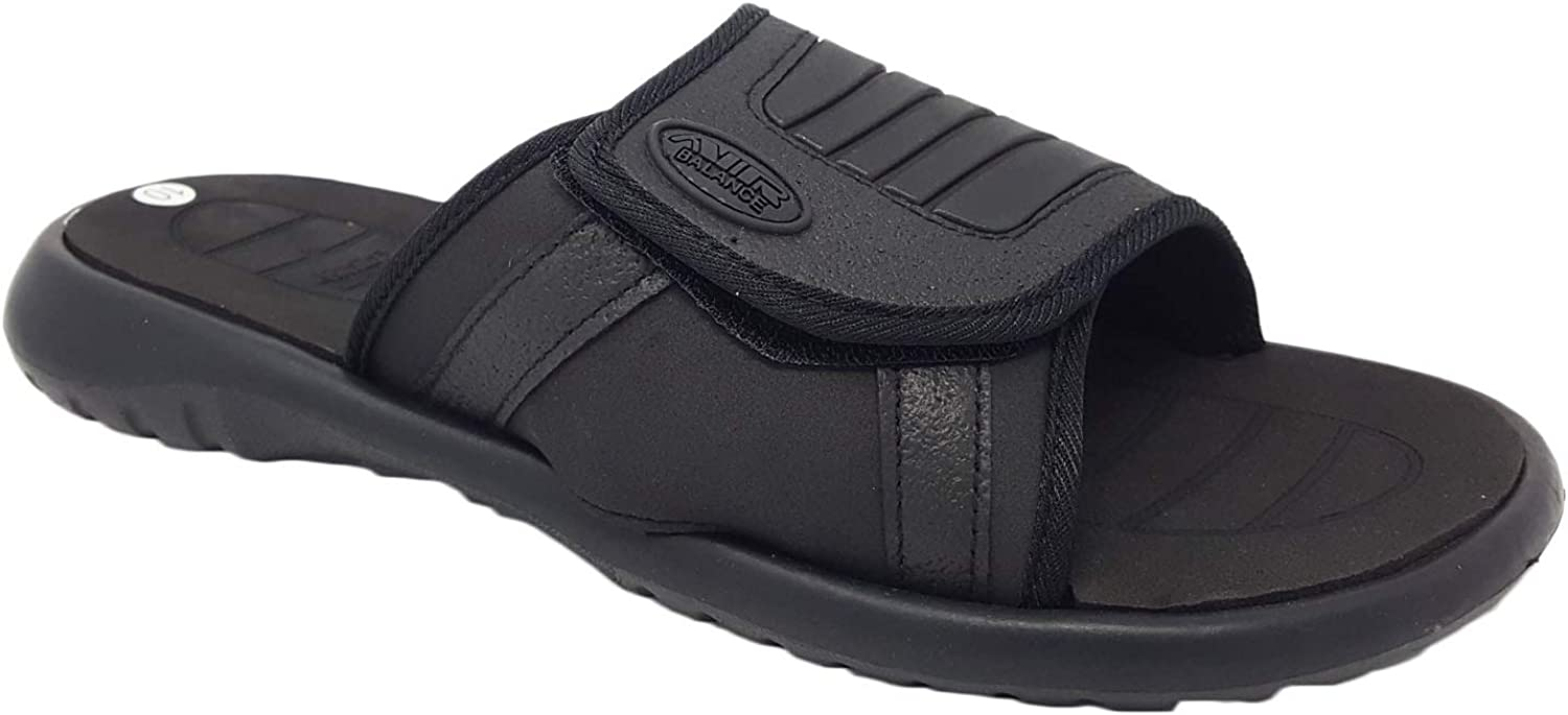 Air Adjustable Strap Comfortable Shower Beach Sandal Slippers in Classy colors for Men Black