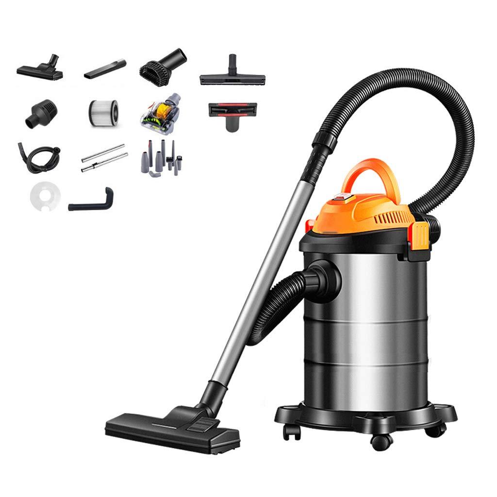 TY-Vacuum Cleaner MMM@ Aspirador doméstico 1200W de Alta Potencia Aspirador de Mano pequeño Silencio Barril Industrial Seco y Mojado Soplado de alfombras Colector de Polvo 18L Barril de Metal: Amazon.es: Hogar