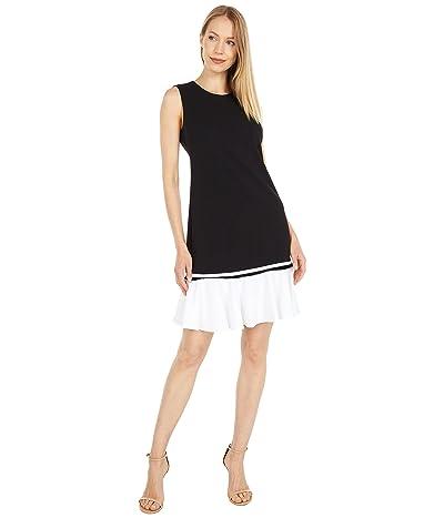 Calvin Klein Color-Block Dress with Ruffle Hem
