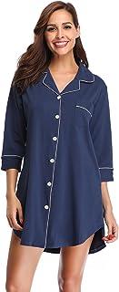 مجموعة بيجامات SHEKINI للنساء ملابس النوم قميص النوم ثوب النوم خفيف الوزن ملابس قصيرة الأكمام