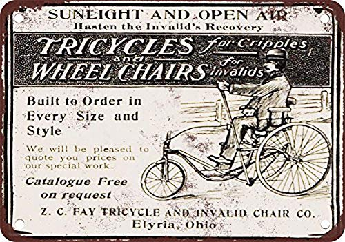 niet driewielers en rolstoelen voor Invalids Metalen tin teken schilderij decoratie Populaire IJzeren Schilderij Poster Voor bar cafe eetkamer huis club