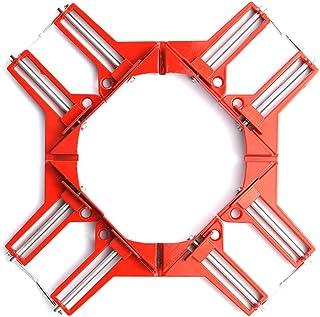 コーナー クランプ セット 90° 直角 木工定規 直角定規 直角クランプ DIY 工具 クランプ 木工用 溶接 接着 圧着 切断 直角 45°固定、直角90°固定や 45°に切断、直角に接着、直角に釘打ちなどが簡単に出来ます。 (3.3in 直角クリップ(4))