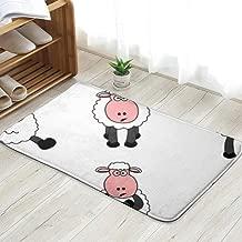 X-Large Cute Sheep Set Animals Wildlife Illustrations Clip Art Doormat Entrance Mat Floor Mat Rug Indoor/Outdoor/Front Door/Bathroom Mats Rubber Non Slip 23.6 X 15.8 Inch