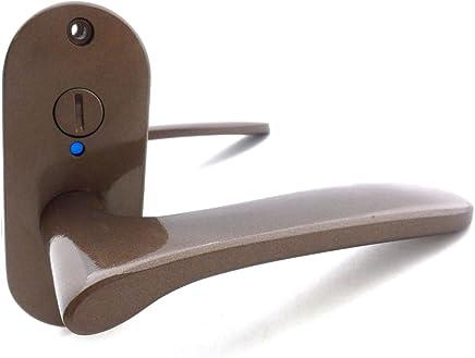 川口技研 Jレバー 小判座 表示錠 JL-20-4K-TBr 住宅室内用レバーハンドル バックセット50mm 塗装ブラウン