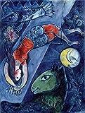Get Custom Art Marc Chagall – Blauer Zirkus, Größe 45,7