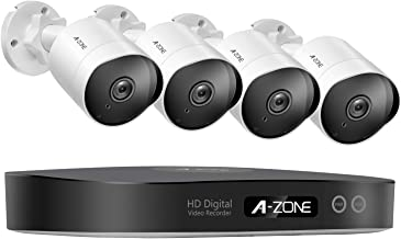 Security Camera System 8CH 1080P Bullet IP PoE System 4 Outdoor/Indoor 3.6mm Fixed Lens 2.0 Megapixel IP67 Waterproof Cameras Smart Motion Detection Free Remote View - 1TB Hard Drive