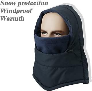 Winter Waterproof Balaclava Ski Face Mask Cap Fleece Hood Windproof Neck Warm Hat for Men and Women Outdoor Sports