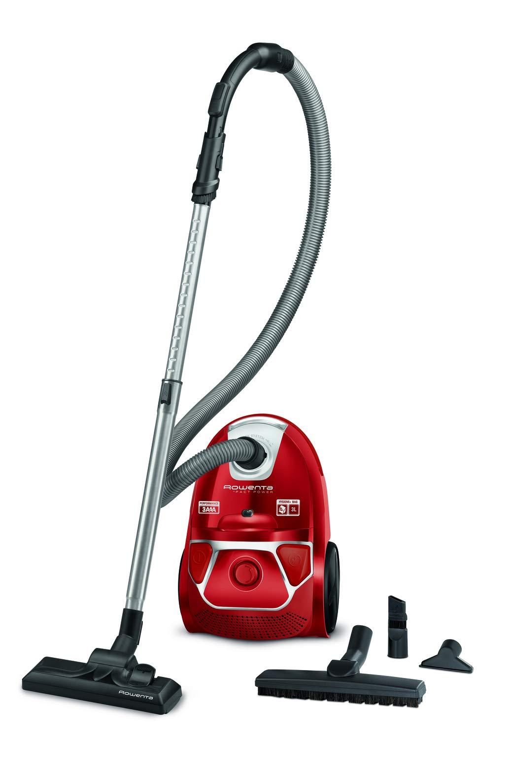 Rowenta RO3953 Compact Power aspiradora con Bolsa, 750 W, 3 litros, 79 Decibelios, Rojo: Amazon.es: Hogar