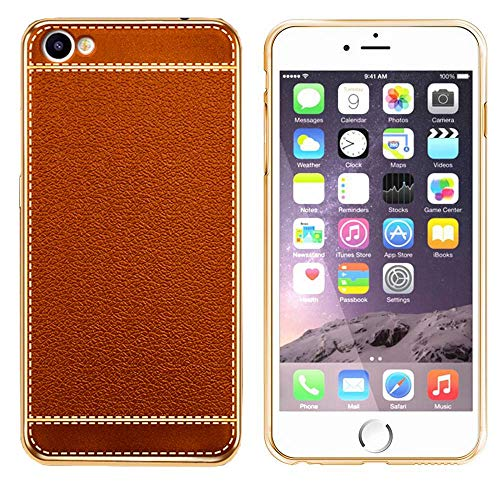 Coolskin Leather - Carcasa para Apple iPhone 8 Plus/7 Plus, color naranja