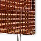 GLJJQMY Persiana Enrollable Persianas de bambú Persianas con Filtro crepuscular Tiras Laterales de Semi-privacidad de Tiro Lateral Horizontal Fácil de Levantar la Cuerda (Size : 120x150)