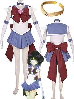 Sailor Moon Sailor Saturn Halloween Cosplay Costume with Bowknot Tomoe Hotaru Halloween