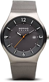 BERING Men's Analogue Solar Powered Watch with Stainless Steel Strap 14440-077