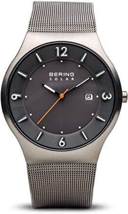 BERING Time 14440-077 Mens Solar Collection Watch with Mesh Band and Scratch Resistant Sapphire