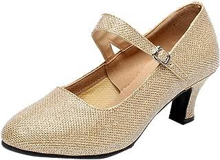 Women's Ballroom Tango Latin Salsa Dancing Shoes Sequins Shoes Social Dance Shoe