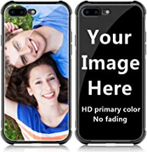 Shumei Custom Case iPhone 7 Plus or iPhone 8 Plus Glass Cover 5.5 inch Anti-Scratch Soft TPU Personalized Photo Make Your Own Picture Phone Cases