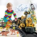 FANL Train Set Toy with Remote, 2020 Upgraded Christmas Train Sets Toys with Dinosaurs, Battery-Powered Indoor Steam Train Set Xmas Gift Toys for Age 3 4 5 6 7 8+ Year Old Boys?Large Size?