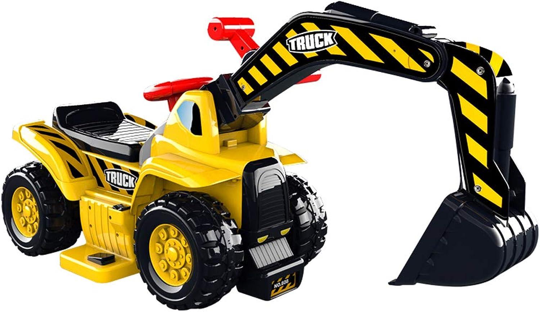 barato ZN-Coche model Juguete Juguete Juguete Los Niños viajan en Camiones de Juguete, excavadoras bulldozers de construcción a Pedales eléctricos, con Almacenamiento de Asientos, función de música (Amarillo)  Venta barata