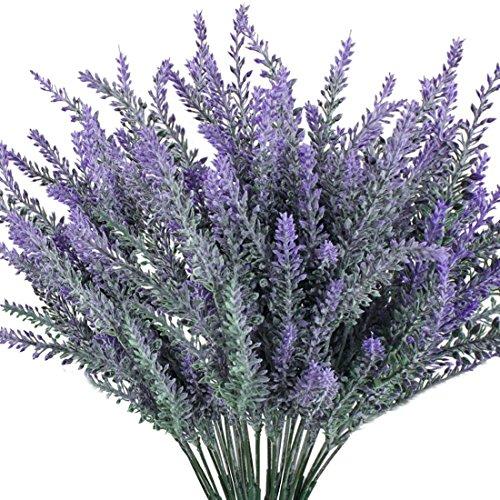 Luyue, bouquet artificiale di fiori di lavanda per decorare casa e matrimonio, viola, 8mazzi