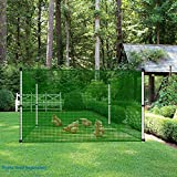 Patio Fence Screen Mesh Netting for Garden Backyard Fencing Guard for Rabbits Pets Dogs Deck Railing Balcony Safety Barrier Snow Fence 6'H x 10'L Green