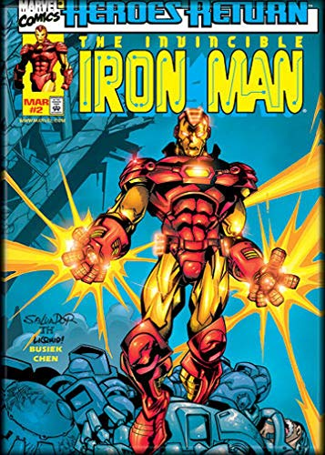 Ata-Boy Marvel Comics Iron Man Comics - Imán neveras