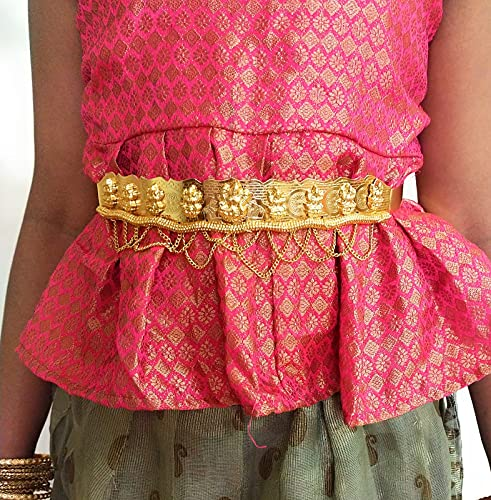 ADC Fashion Gold Plated Wedding Collection Hip Belt for Baby Girl Age Below 8 Years