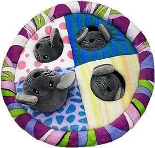Peek-a-boo juguetes de peluche, Bebés y Niños ratones de mascotas animales de peluche muñeca de la felpa de dibujos animados for mascotas interactivo juguetes for mascotas Árbol del agujero de sonidos