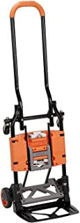 Cosco Shifter 300-Pound Capacity Multi-Position Folding Hand Truck and Cart, Orange (Renewed)