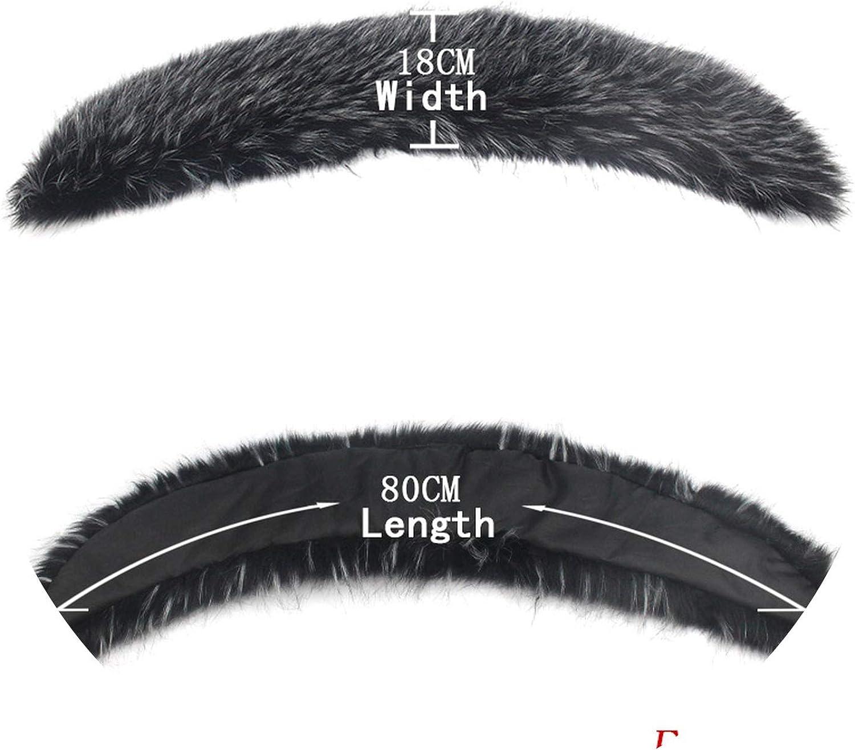 Women Faux Raccoon Fur Scarf Winter warmer Fake Fur Collar Women 's Scarves Cap Shawl Hats Brim,C