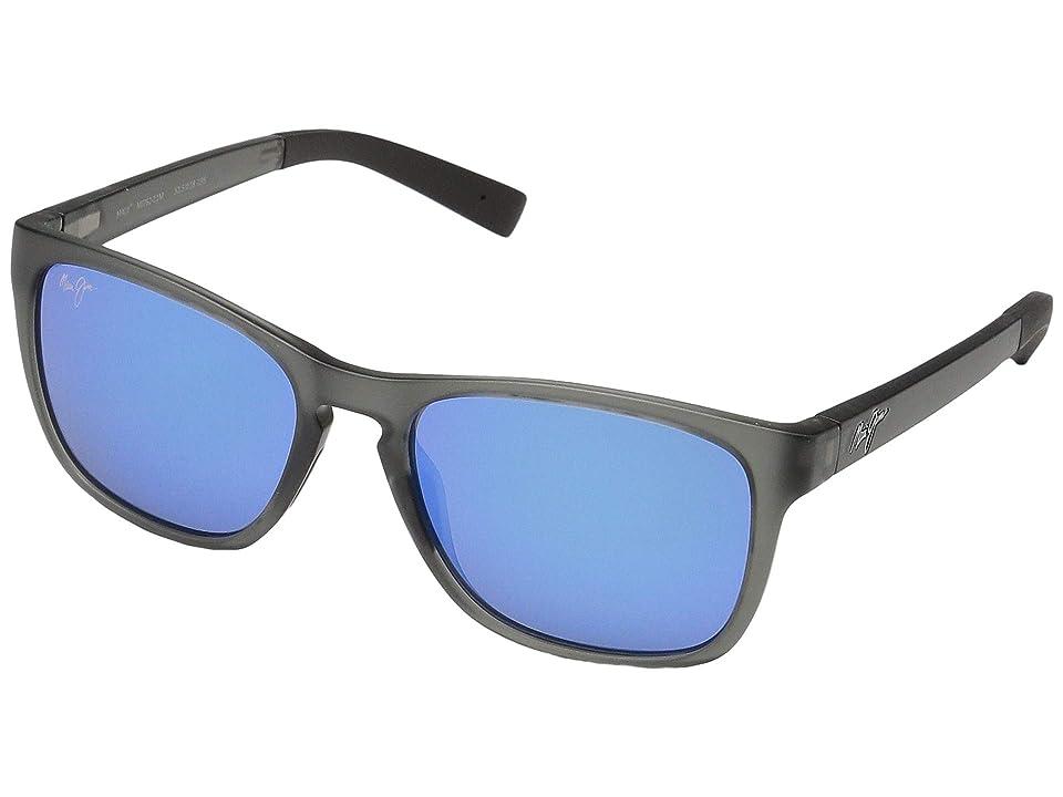 Maui Jim Longitude (Translucent Grey/Blue Hawaii) Fashion Sunglasses