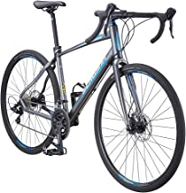Schwinn Vantage Mens/Womens Sport Hybrid Bike, 18-24 Speed Drivetrain, Aluminum Frame, Flat Bar, Disc Brakes, Smooth Ride ...